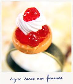 bague tarte aux fraises
