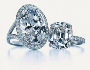 Tiffany : Anneau de diamant ovale